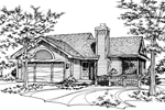 Ranch House Plan Front of Home - 072D-0147 | House Plans and More
