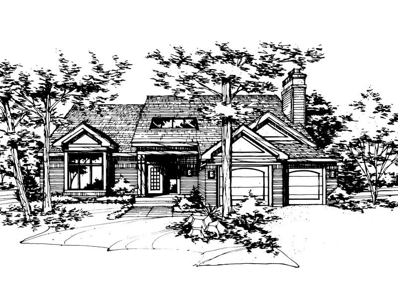 Southern House Plan Front of Home - 072D-0150 | House Plans and More
