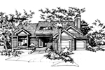 Contemporary House Plan Front of Home - 072D-0150 | House Plans and More