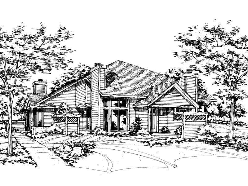 Modern House Plan Front of Home - 072D-0151 | House Plans and More