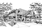 Contemporary House Plan Front of Home - 072D-0151 | House Plans and More
