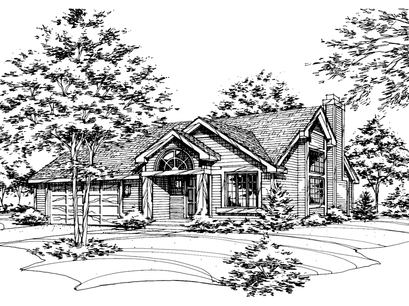 Modern House Plan Front of Home - 072D-0152 | House Plans and More