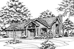 Traditional House Plan Front of Home - 072D-0152 | House Plans and More
