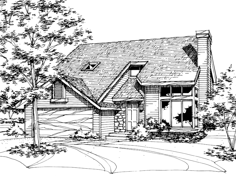 Traditional House Plan Front of Home - 072D-0153 | House Plans and More