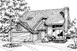 Contemporary House Plan Front of Home - 072D-0153 | House Plans and More
