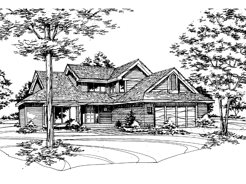 Traditional House Plan Front of Home - 072D-0154 | House Plans and More