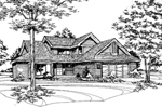 Southern House Plan Front of Home - 072D-0154 | House Plans and More