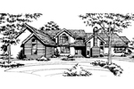 Traditional House Plan Front of Home - 072D-0155 | House Plans and More