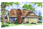 Ranch House Plan Front of Home - 072D-0156 | House Plans and More