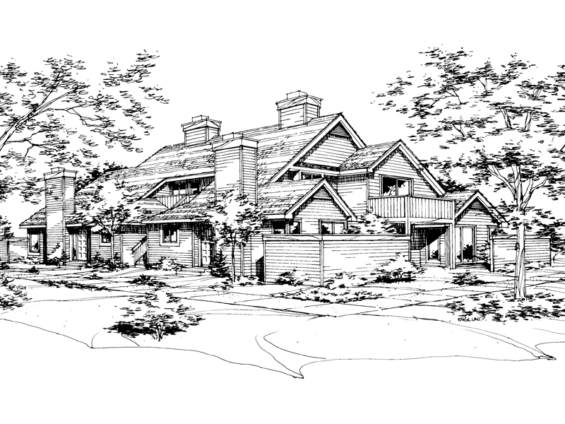 Mountain Home Plan Front of Home - 072D-0158 | House Plans and More