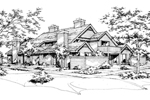 Traditional House Plan Front of Home - 072D-0158 | House Plans and More