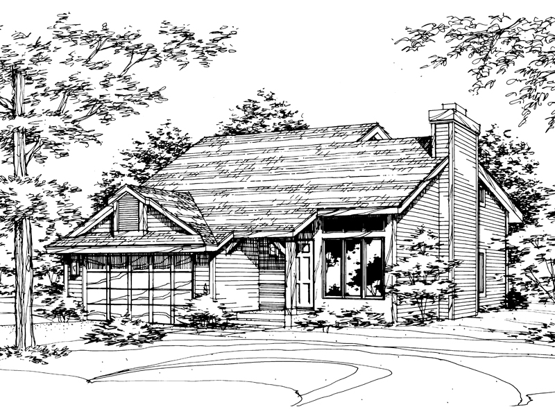Contemporary House Plan Front of Home - 072D-0159 | House Plans and More