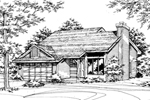 Traditional House Plan Front of Home - 072D-0159 | House Plans and More