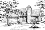 Southern House Plan Front of Home - 072D-0160 | House Plans and More