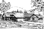 Traditional House Plan Front of Home - 072D-0162 | House Plans and More