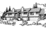 Multi-Family House Plan Front of Home - 072D-0165 | House Plans and More
