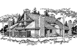 Traditional House Plan Front of Home - 072D-0166 | House Plans and More