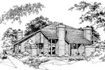 Contemporary House Plan Front of Home - 072D-0167 | House Plans and More