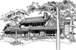 Traditional House Plan Front of Home - 072D-0168 | House Plans and More