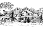 Traditional House Plan Front of Home - 072D-0169 | House Plans and More
