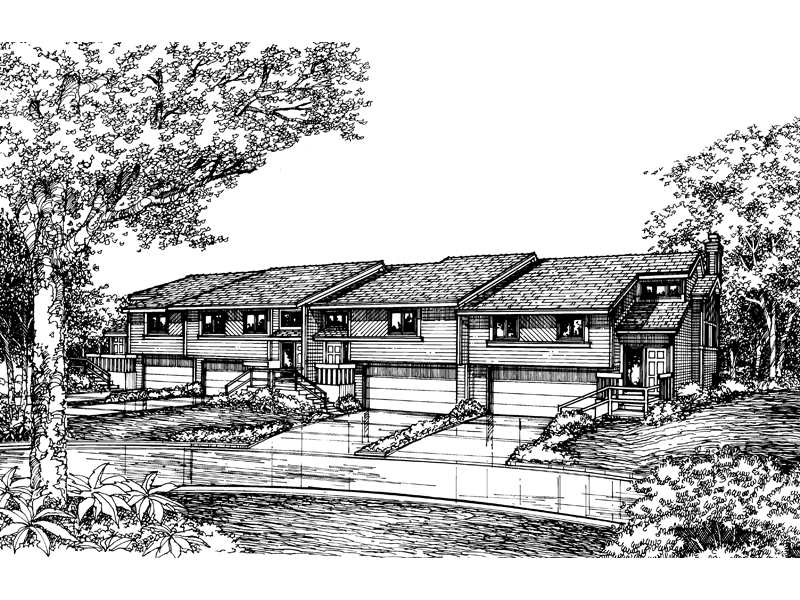 Ranch House Plan Front of Home - 072D-0170 | House Plans and More
