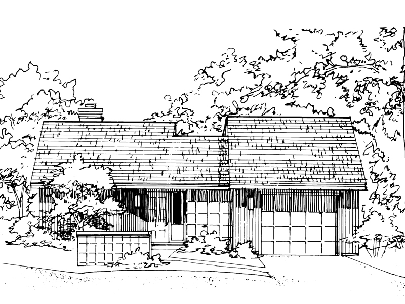 Ranch House Plan Front of Home - 072D-0171 | House Plans and More