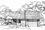 Traditional House Plan Front of Home - 072D-0171 | House Plans and More