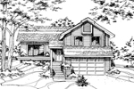 Traditional House Plan Front of Home - 072D-0173 | House Plans and More