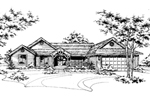 Ranch House Plan Front of Home - 072D-0174 | House Plans and More