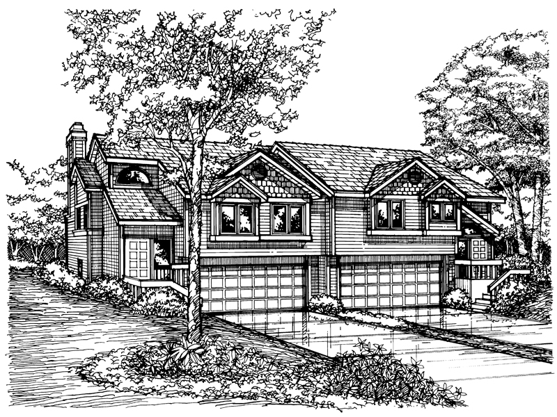 Contemporary House Plan Front of Home - 072D-0175 | House Plans and More