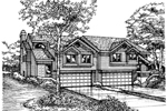 Multi-Family House Plan Front of Home - 072D-0175 | House Plans and More