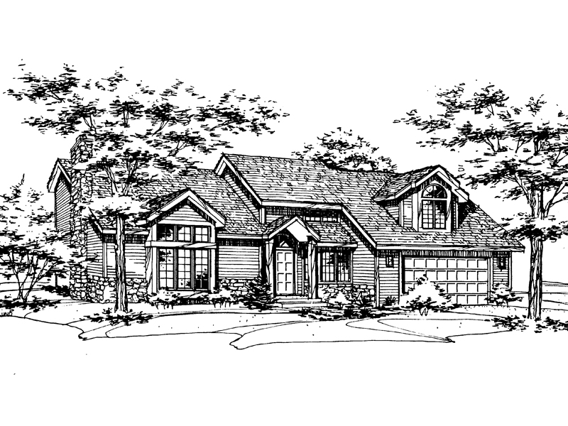 Luxury House Plan Front of Home - 072D-0177 | House Plans and More