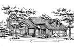 Contemporary House Plan Front of Home - 072D-0177 | House Plans and More
