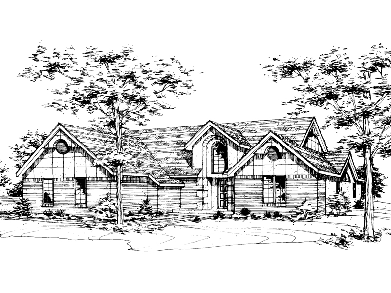 Modern House Plan Front of Home - 072D-0178 | House Plans and More