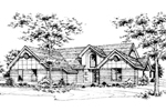 Ranch House Plan Front of Home - 072D-0178 | House Plans and More
