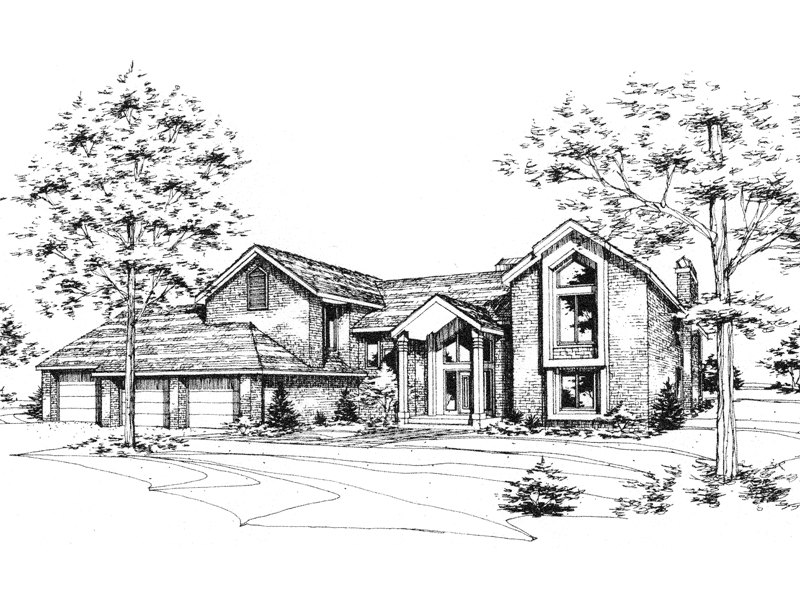 Luxury House Plan Front of Home - 072D-0179 | House Plans and More