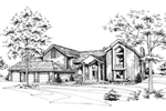 Traditional House Plan Front of Home - 072D-0179 | House Plans and More