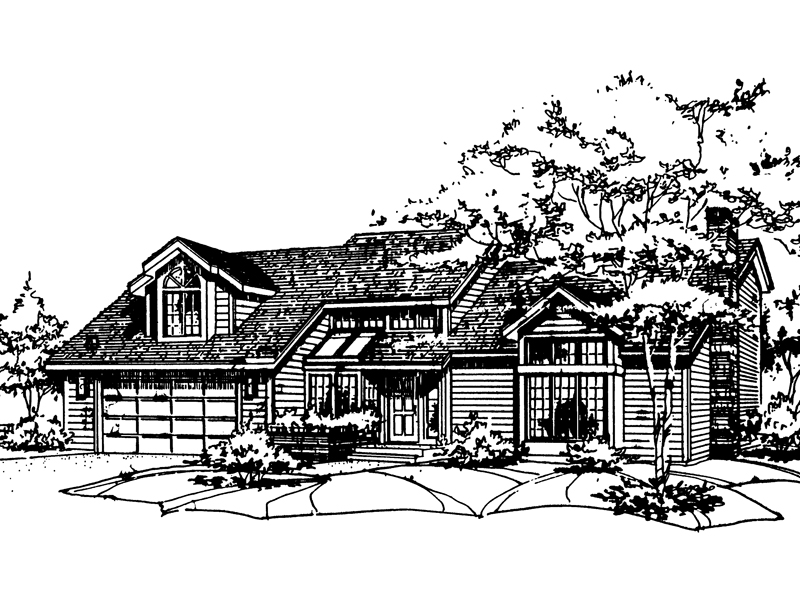 Contemporary House Plan Front of Home - 072D-0180 | House Plans and More