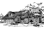 Traditional House Plan Front of Home - 072D-0180 | House Plans and More
