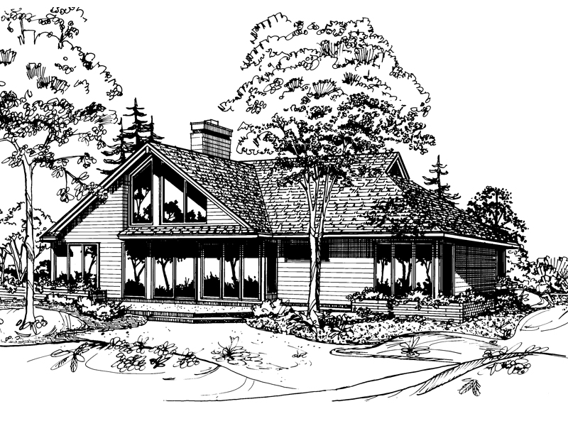 Traditional House Plan Front of Home - 072D-0182 | House Plans and More