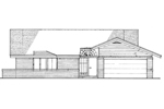 Ranch House Plan Front of Home - 072D-0183 | House Plans and More
