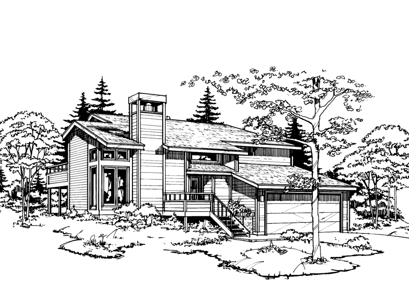 Traditional House Plan Front of Home - 072D-0184 | House Plans and More