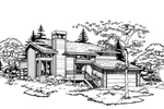 Contemporary House Plan Front of Home - 072D-0184 | House Plans and More