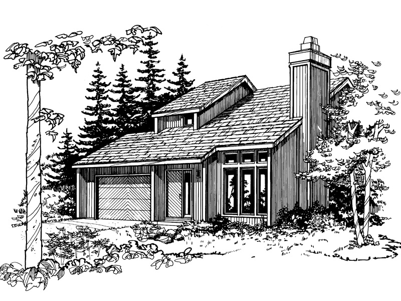 Traditional House Plan Front of Home - 072D-0185 | House Plans and More