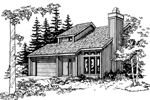 Contemporary House Plan Front of Home - 072D-0185 | House Plans and More
