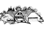 Ranch House Plan Front of Home - 072D-0188 | House Plans and More