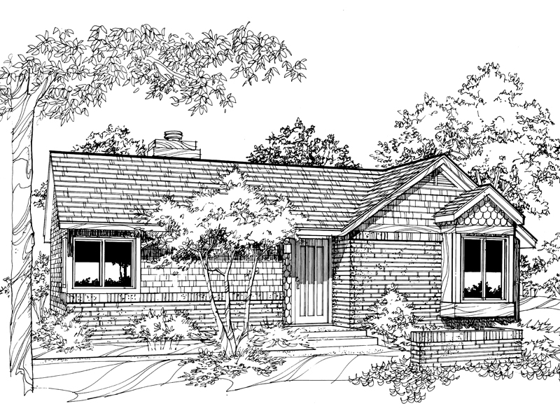 Shingle House Plan Front of Home - 072D-0189 | House Plans and More