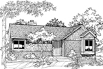 Ranch House Plan Front of Home - 072D-0189 | House Plans and More