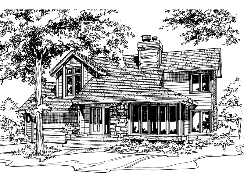 Bungalow House Plan Front of Home - 072D-0191 | House Plans and More