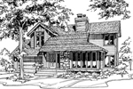 Traditional House Plan Front of Home - 072D-0191 | House Plans and More